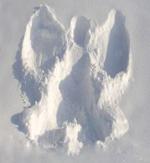 Engel in de sneeuw