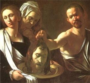 Salomé met het hoofd van de Doper / Carravagio