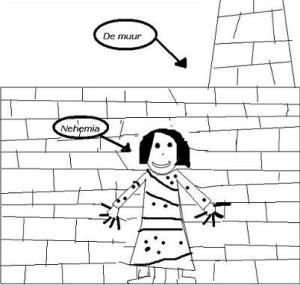 Nehemia bij de muur