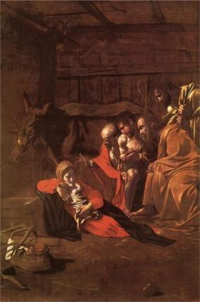 Aanbidding van de herders / Caravaggio