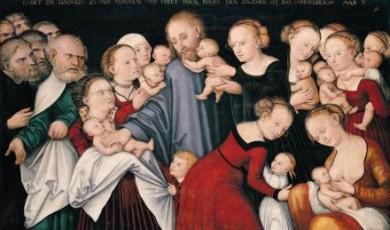 Jezus zegent de kinderen / Cranach, 1540