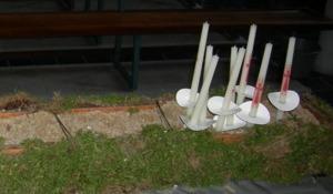 Zandbak voor kaarsen