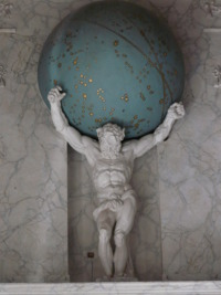Atlas draagt de wereld