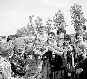 R.K. jeugdwerk in Goes, 1962. Fotograaf J. Midavaine