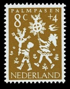Kinderpostzegel uit 1961 Palmpasen