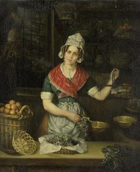 De fruitverkoopster / Henriëtta Christina Temminck, 1840 - 1860