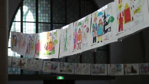 Tekeningen van de kinderen in kader van kerkbalans