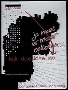 Je moet er maar opkomen : affiche jeugdwerk 1985