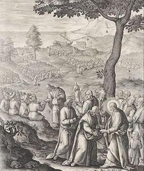 Gravure uit 1593 wonderbaarlijke spijziging