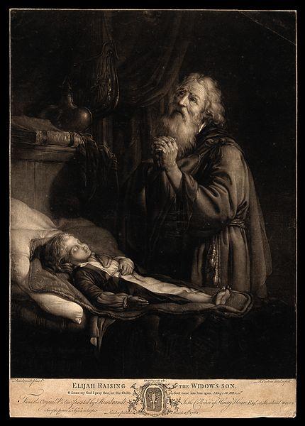 Elia bidt bij de zoon van de weduwe