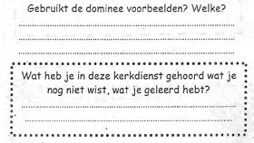Papier met Vragen en stippellijnen om de antwoorden op te schrijven