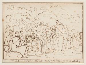 Jezus zegent de kinderen / Jan Luyken, 1712