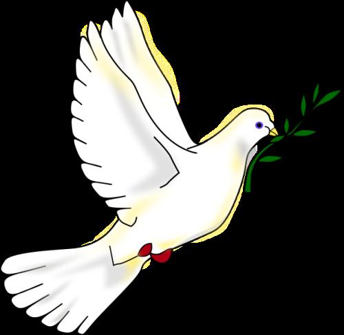 vredesduif met takje in de snavel